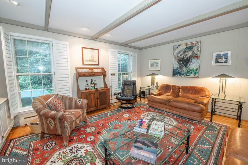 family room in Traditional Colonial