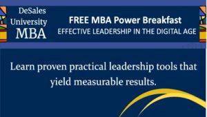 DeSales MBA Power Breakfast