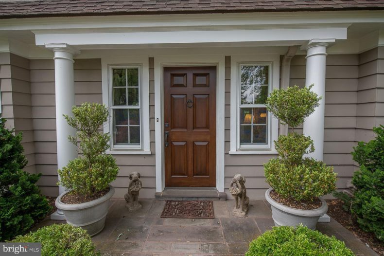 Front door entrance to Haverford Home.