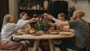 Group of people enjoy Conshohocken restaurants.