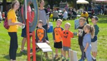 kids playing at Whitpain Community Festival