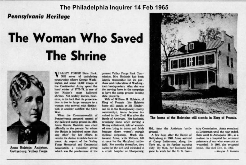 Anna Holstein featured in The Philadelphia Inquirer in 1965.