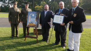 The Order of Anthony Wayne was presented posthumously to Durrell V. Pearsall Jr. by officers and staff of the Valley Forge Military Academy and College.