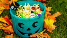 teal pumpkin bucket