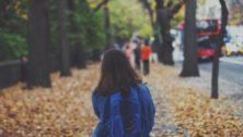 school child walking