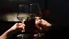 wine glasses at the Joseph Ambler Inn