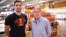Rob Borzillo (left), vice president of sales at Sweetzels and his father, Sweetzels president Bob Borzillo