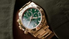 Green dialed Rolex Daytona reference 116508 at WatchBox